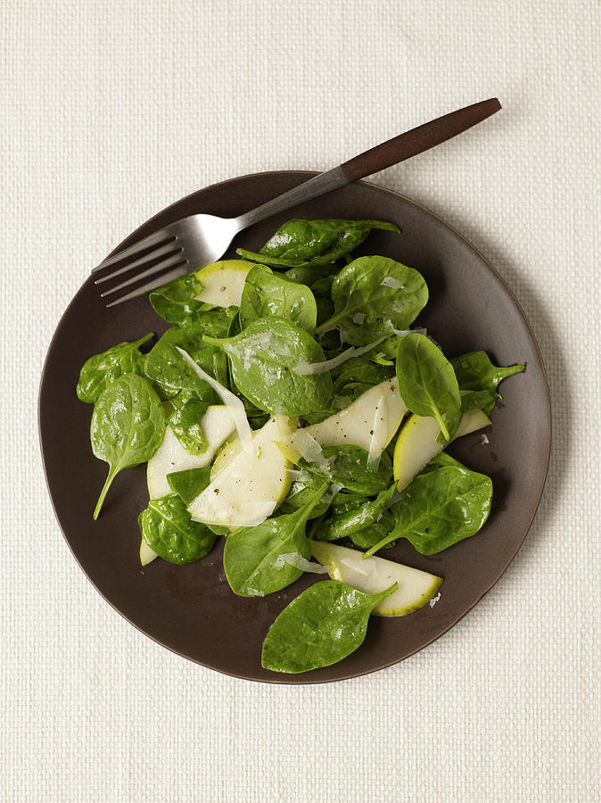Pear Spinach Salad Photograph by James Baigrie