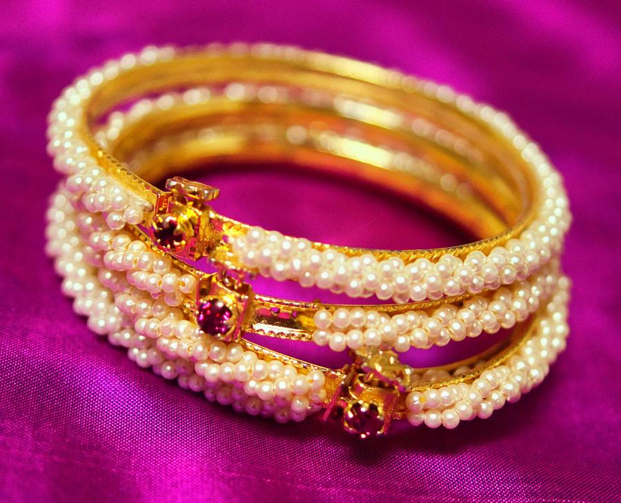 Pearl Bangles by Suguna Ganeshan