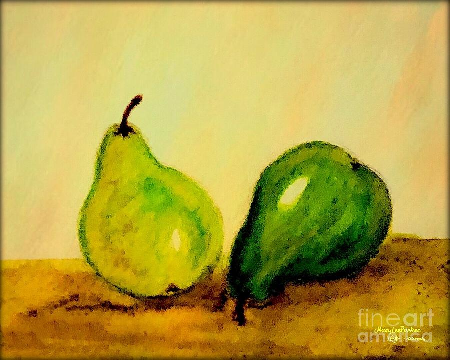 Pears In Watercolors by MaryLee Parker