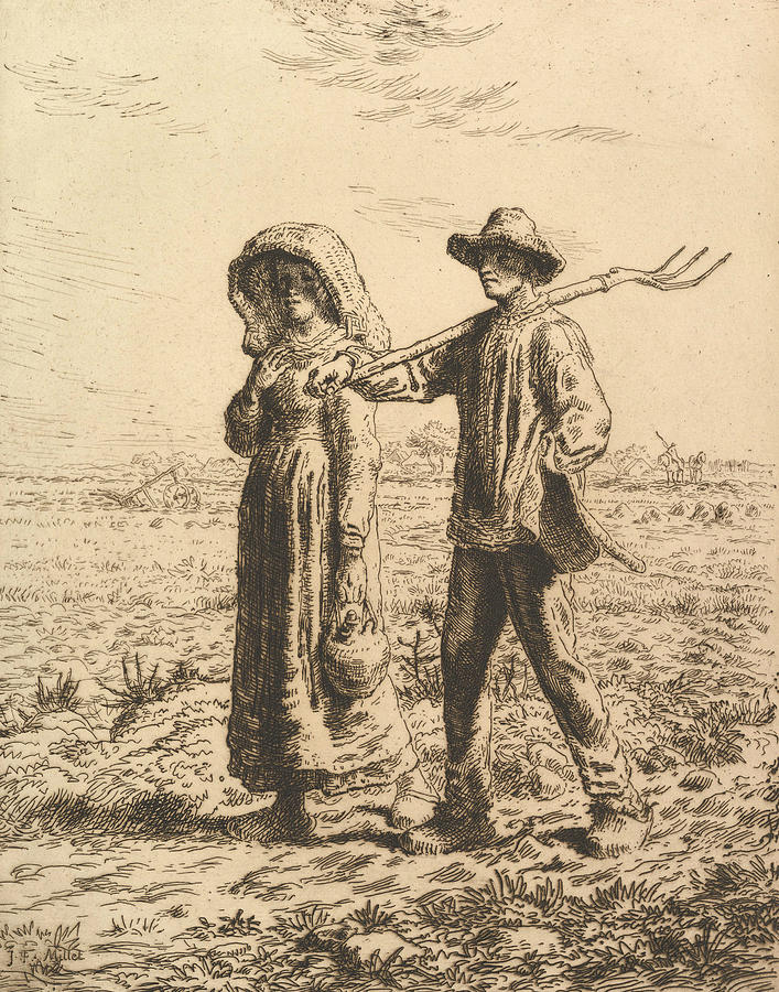 Peasants Going to Work by Jean-Francois Millet