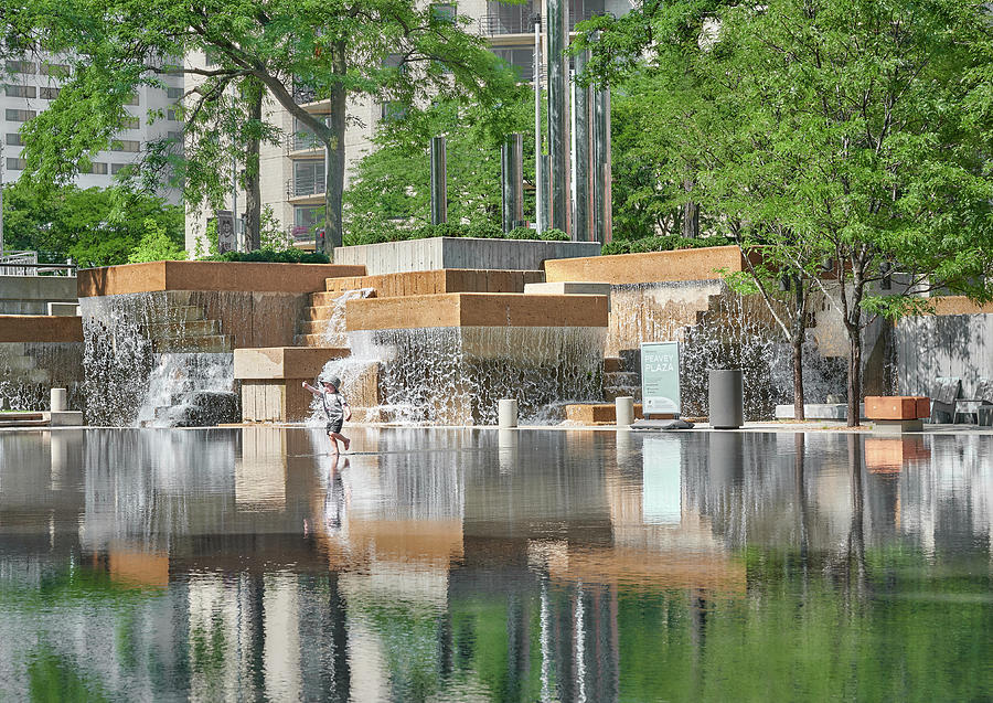 Peavey Plaza in Minneapolis by Jim Hughes