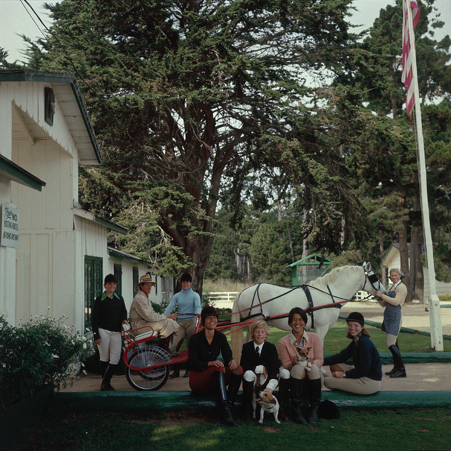 Pebble Beach Stables Photograph by Slim Aarons