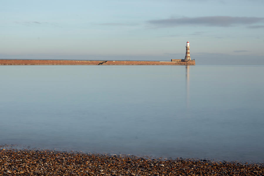 Roker Photograph - Pebbles At Roker by Steev Stamford