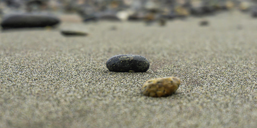 Pebbles on the Beach by Dave Matchett