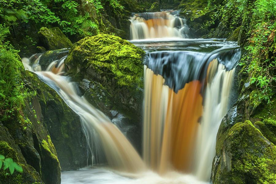 Ingleton Photograph - Pecca Twin Falls, Ingleton by David Ross