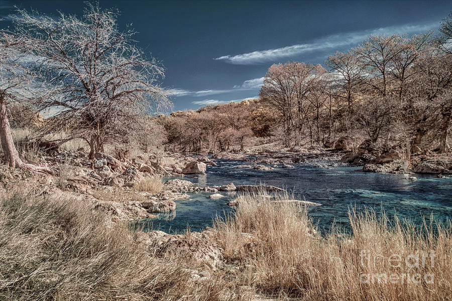 Pedernales River In Infrared Photograph