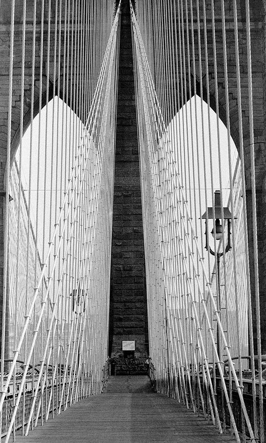 Pedestrian Walk On The Brooklyn Bridge Photograph by Alfred Eisenstaedt