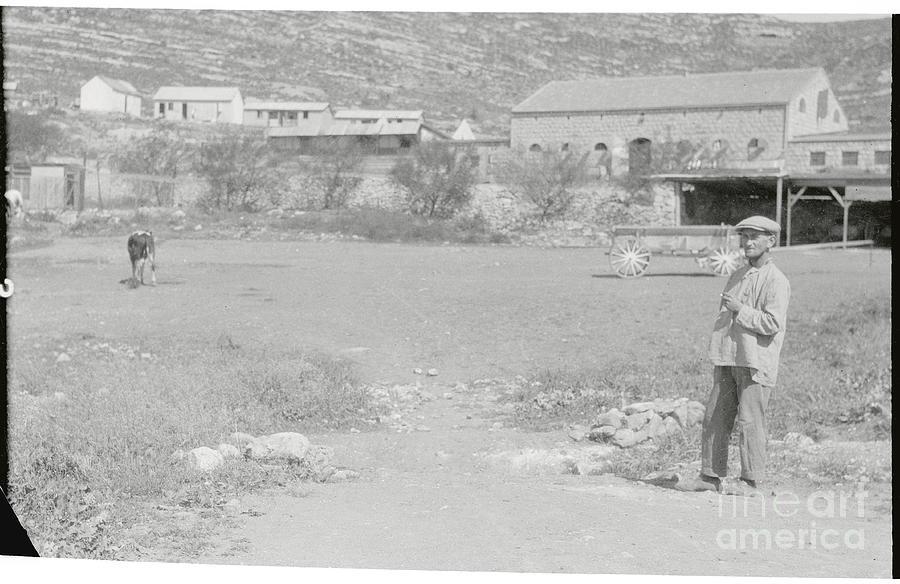 Pedestrians At Dilb Colony Photograph by Bettmann