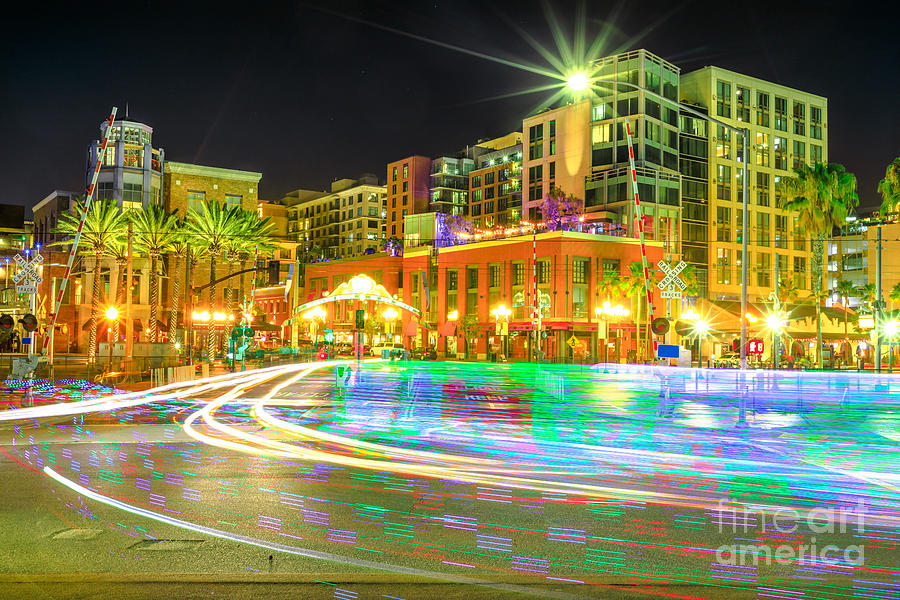Pedicabs lighting in San Diego by Benny Marty