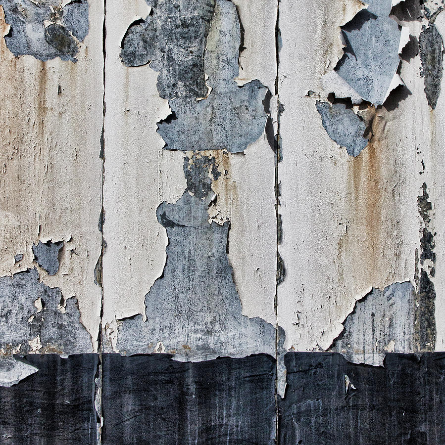 Peeling Paint Photograph - Peeling Paint and Shadows by Carol Leigh