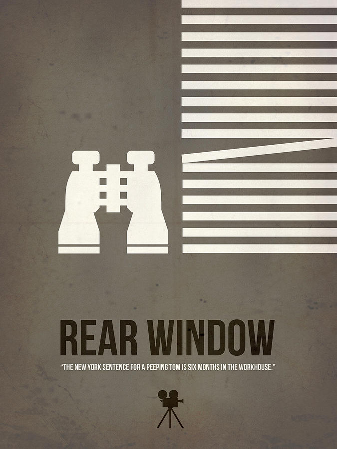Rear Window Digital Art - Peeping Tom by Naxart Studio