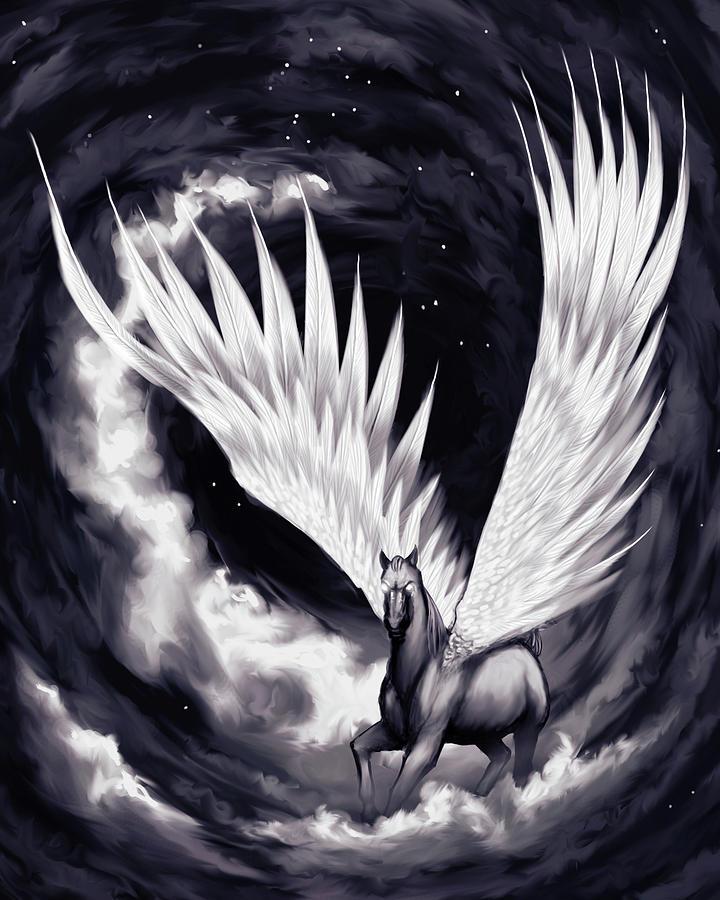 Pegasus Painting - Pegasus by Sami Matilainen