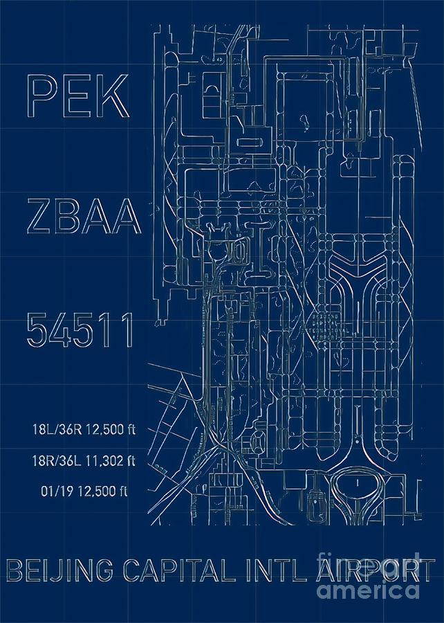 PEK Beijing Capital Airport Blueprint by HELGE