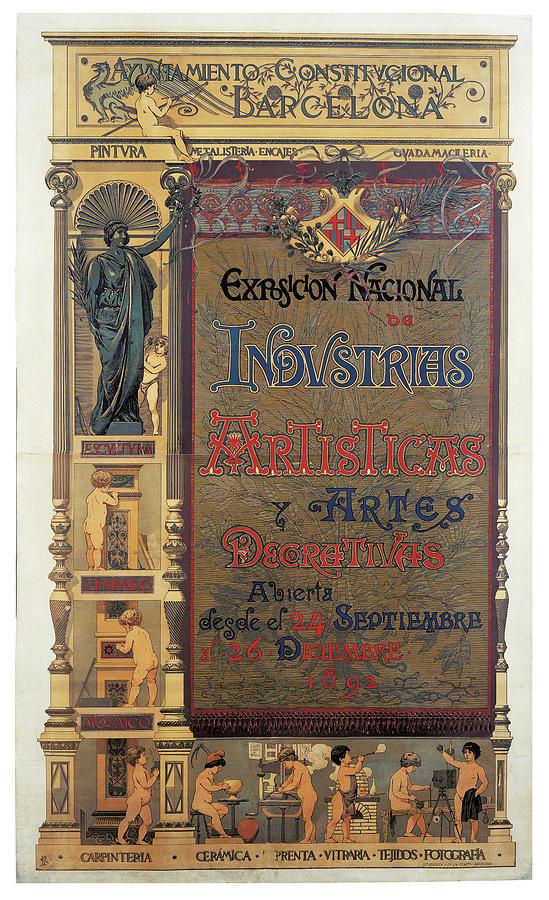 Pellicer Josep Lluis Exposicion Nacional De Industrias Artisticas Y Artes Decorativas 1892 Painting