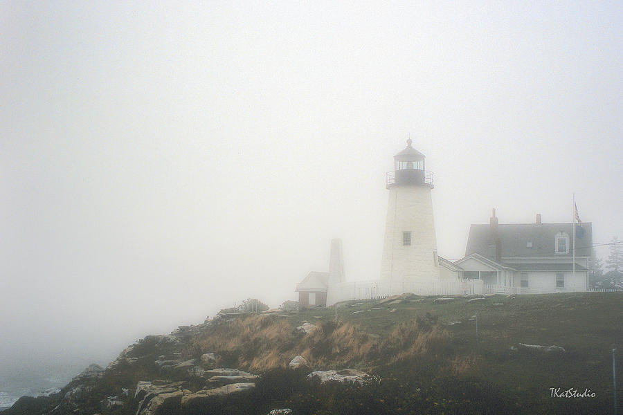 Pemaquid Point Lighthouse in the Fog by Tim Kathka