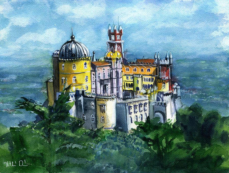 Pena National Palace in Sintra Portugal by Dora Hathazi Mendes