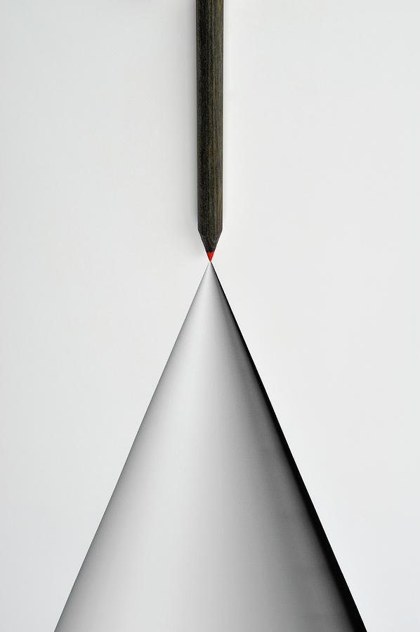 Pencil And The Structure Of The Cone Photograph by Yagi Studio