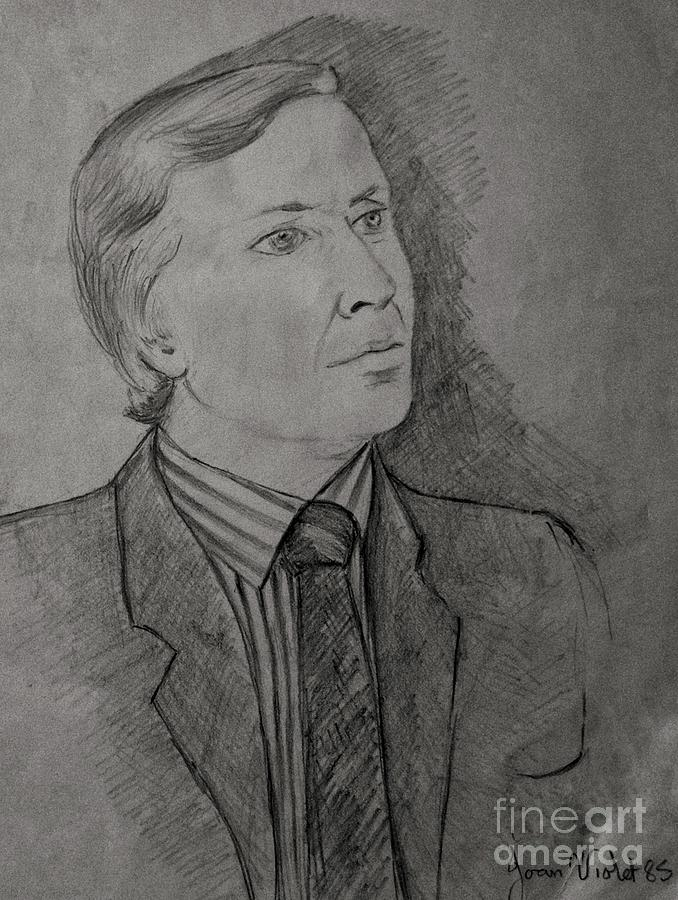 Pencil Portrait Sitter by Joan-Violet Stretch
