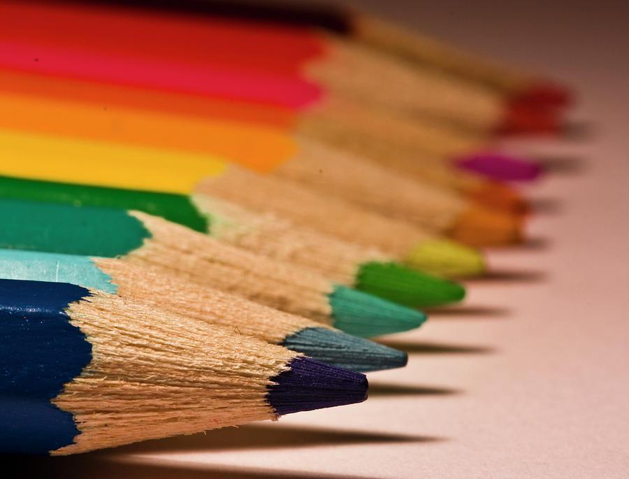 Pencil Rainbow Photograph by Dr David James Killock