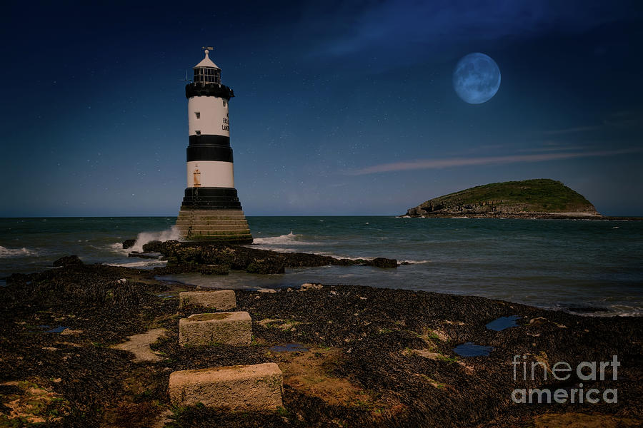 Penmon Lighthouse and Puffin Island by Adrian Evans