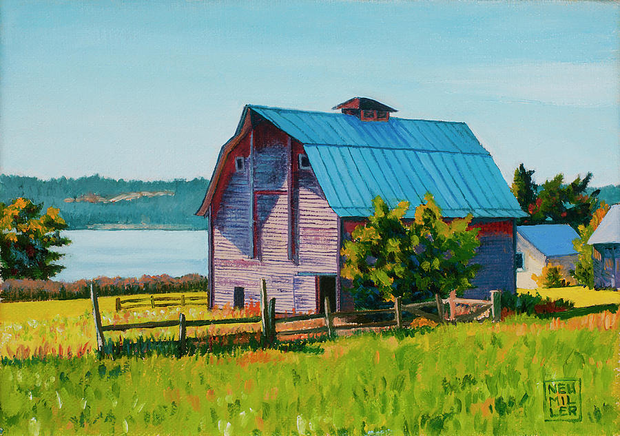 Barn Painting - Penn Cove Barn by Stacey Neumiller