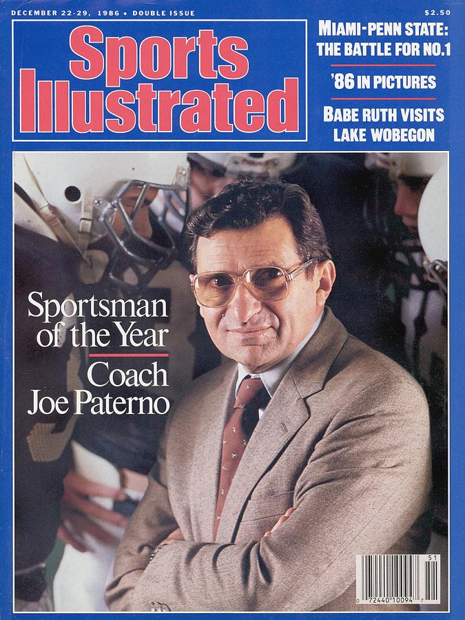 Penn State Coach Joe Paterno, 1986 Sportsman Of The Year Sports Illustrated Cover Photograph by Sports Illustrated