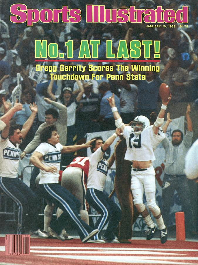 Penn State Gregg Garrity, 1983 Sugar Bowl Sports Illustrated Cover Photograph by Sports Illustrated
