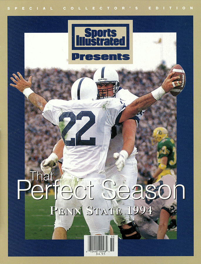 Penn State University Brian Milne, 1994 Ncaa Perfect Season Sports Illustrated Cover Photograph by Sports Illustrated