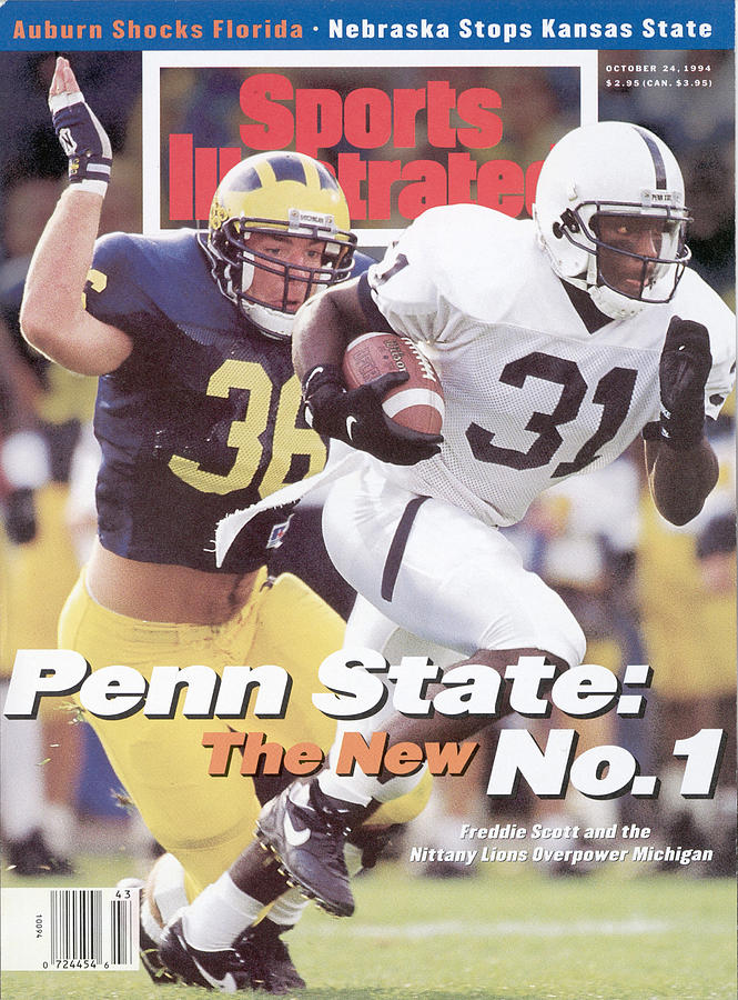 Penn State University Freddie Scott Sports Illustrated Cover Photograph by Sports Illustrated