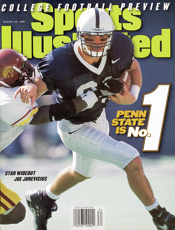 Penn State University Joe Jurevicius, 1996 Kickoff Classic Sports Illustrated Cover Photograph by Sports Illustrated