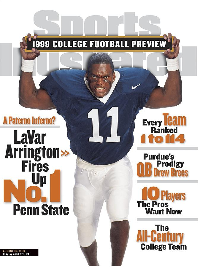 Penn State University Lavar Arrington, 1999 College Sports Illustrated Cover Photograph by Sports Illustrated