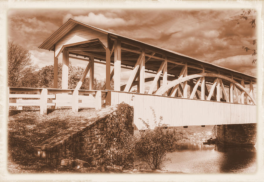Pennsylvania Country Roads - Halls Mill Covered Bridge No. 15AS - Hopewell Township Bedford County by Michael Mazaika