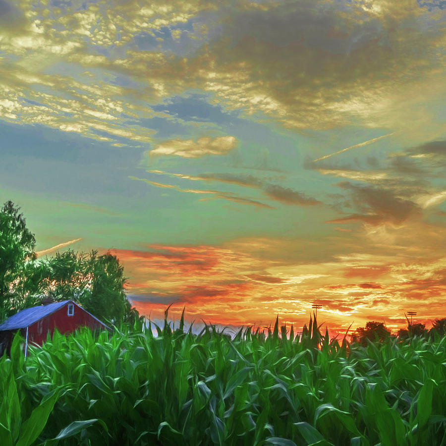 Pennsylvania Farm Sunset by Jason Fink