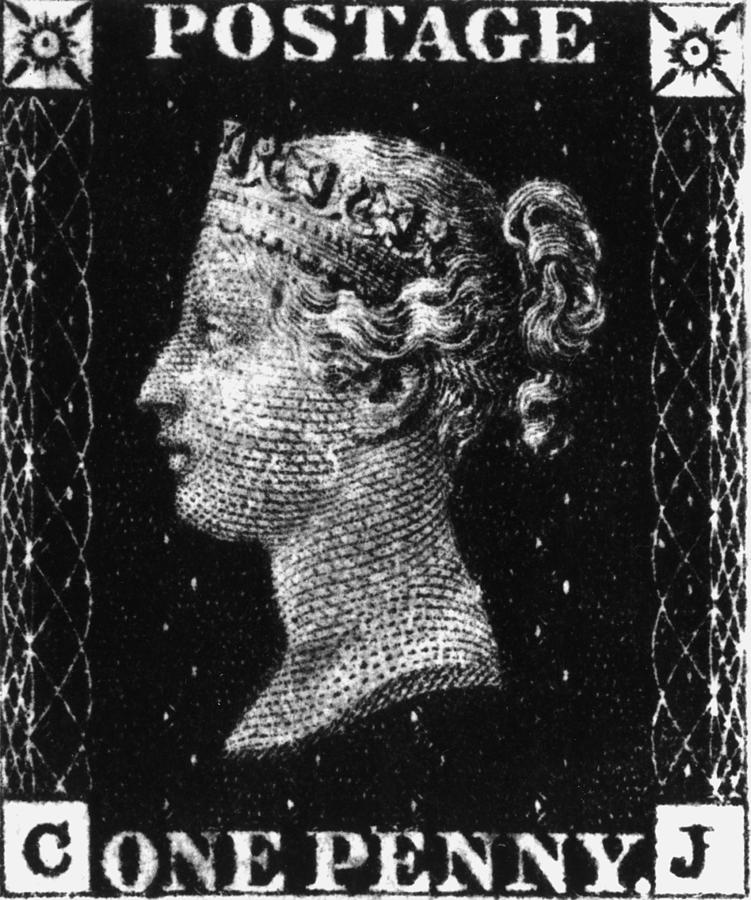 Penny Black Digital Art by Hulton Archive