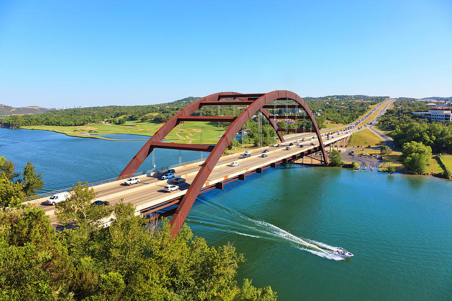 Pennybacker 360 Bridge And Colorado Photograph by Dszc