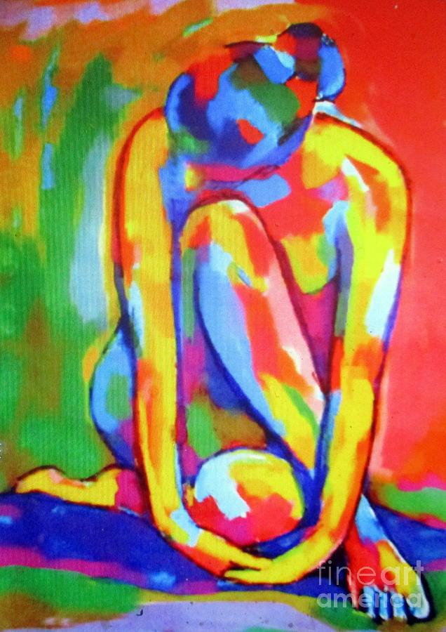 Pensive figure study by Helena Wierzbicki