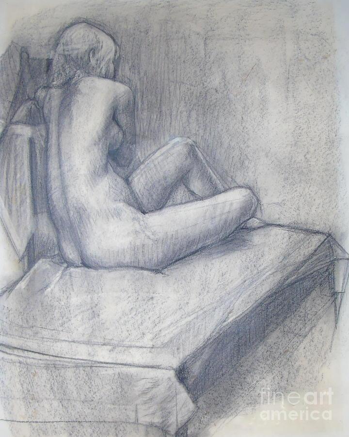 Pensive Nude by Susan Lafleur