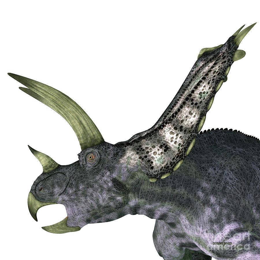 Pentaceratops Dinosaur Head by Corey Ford