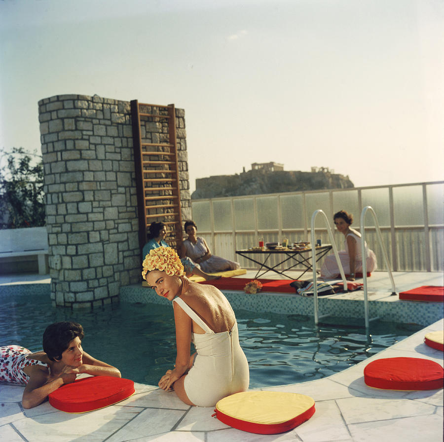Penthouse Pool Photograph by Slim Aarons