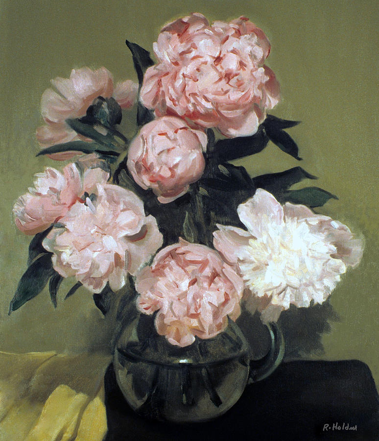 Peonies Painting -  Peonies Front And Center by Robert Holden