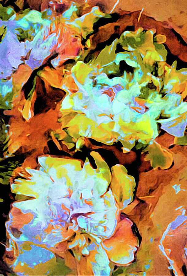 Botanical Garden Mixed Media - Peony Perspective by Susan Maxwell Schmidt