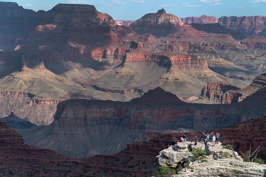 Grand Canyon Photograph - People at Grand Canyon by Mark Langford