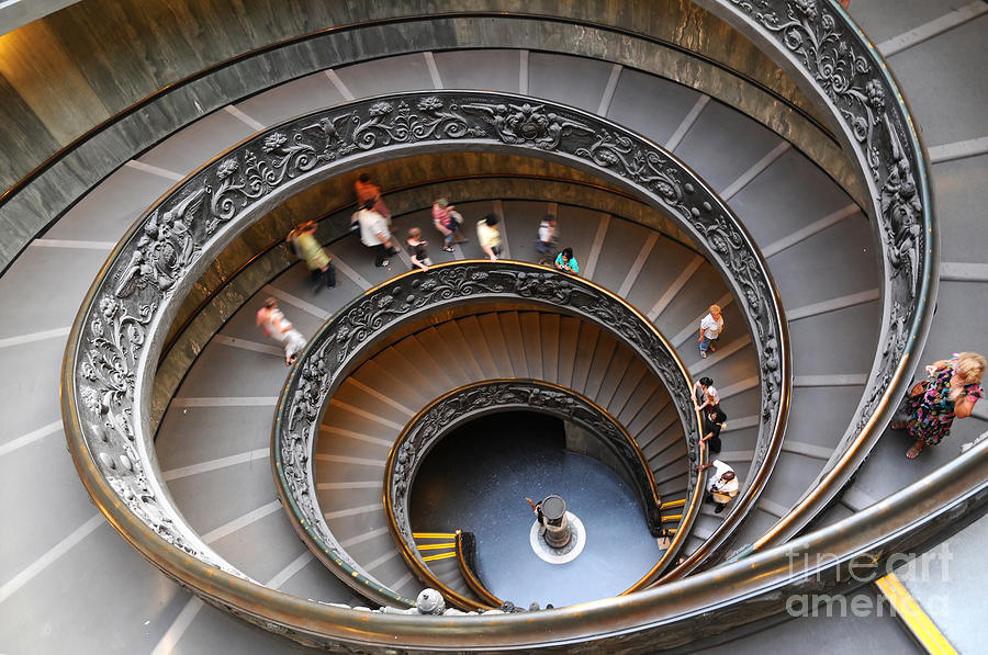 Pope Photograph - People Climbing Down The Stairs by The World In Hdr