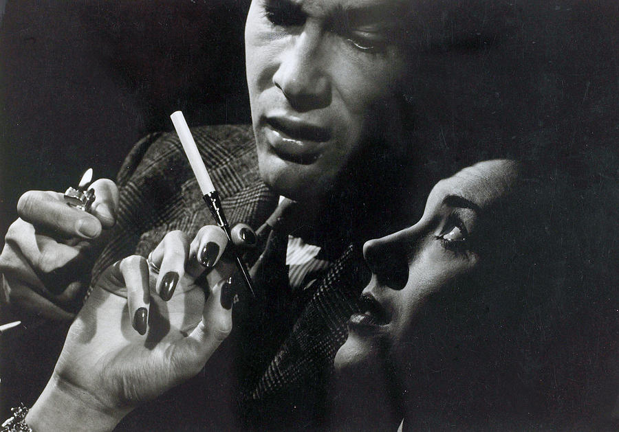 People. Health. Smoking. Pic 1949. A Photograph by Popperfoto