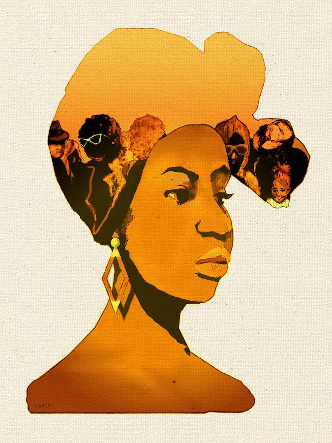 African American Digital Art - People In My Head by Regina Wyatt