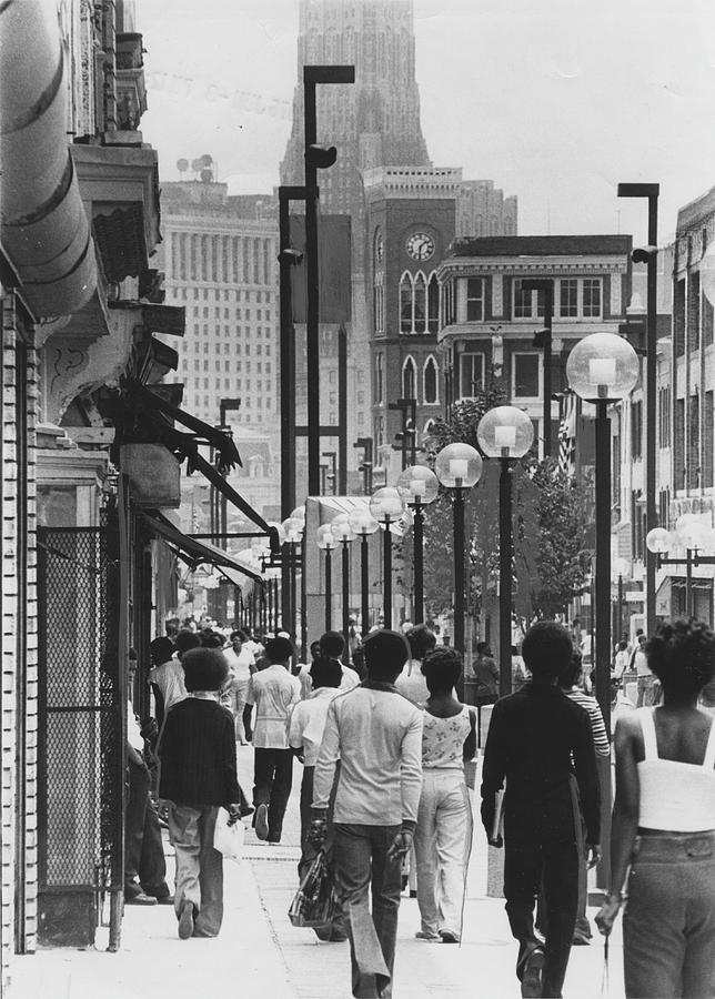 People Walking Before Baltimore Mall Photograph by Afro Newspaper/gado