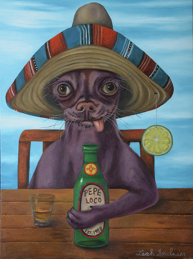 Pepe Loco   by Leah Saulnier The Painting Maniac