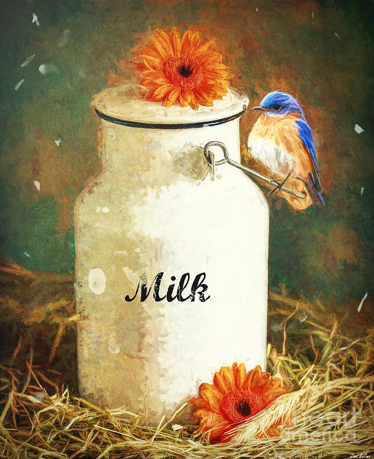 Perched On The Milk Can Digital Art