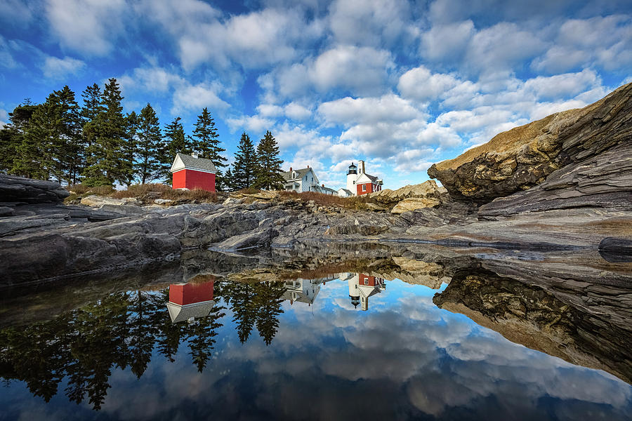 Perfect Reflections - Pemaquid Point Light by Robert Clifford
