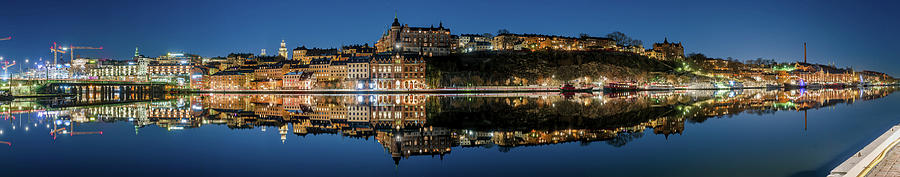 Stockholm Photograph - Perfect Sodermalm Blue Hour Reflection by Dejan Kostic